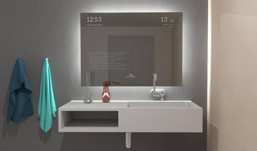 miroir connecté salle de bain
