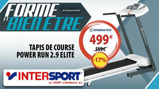 tapis de course intersport